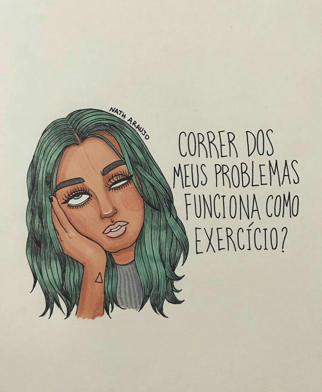 Nanaths Instagram Desenho Mulher Mulheres Garota Meninas