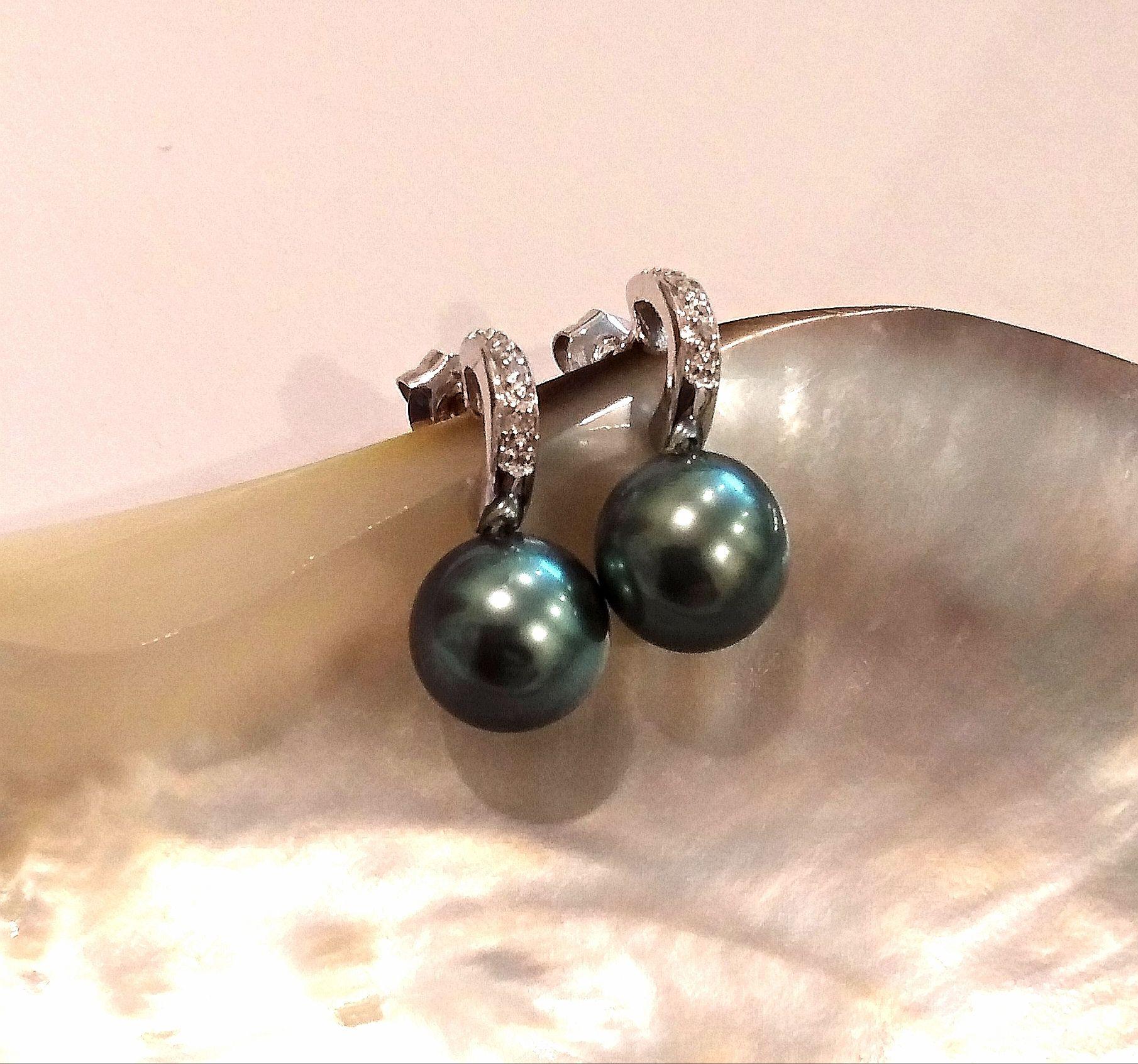 magasin officiel obtenir de nouveaux Baskets 2018 Boucles d'oreilles Orava or blanc 18K diamants perles de ...