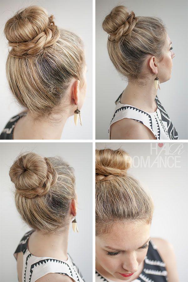 Hair Romance - 30 Buns in 30 Days - Day 11 - The Donut Bun and B\raid Hairstyle