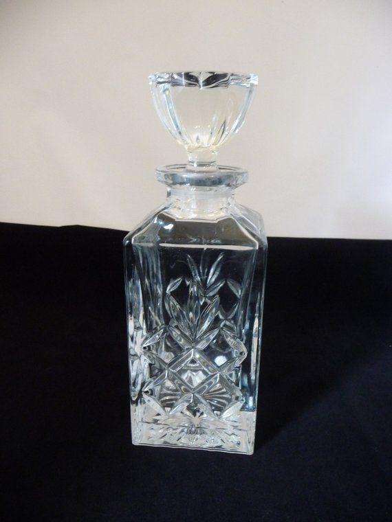 Antiques Decorative Arts Smart Vintage Set Of 2 Amber Glass Spirits Decanters Embossed Japan Retro Barware