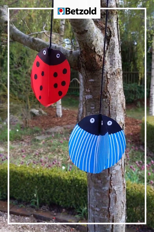 Tanzende Käfer: Frühling DIY Basteln