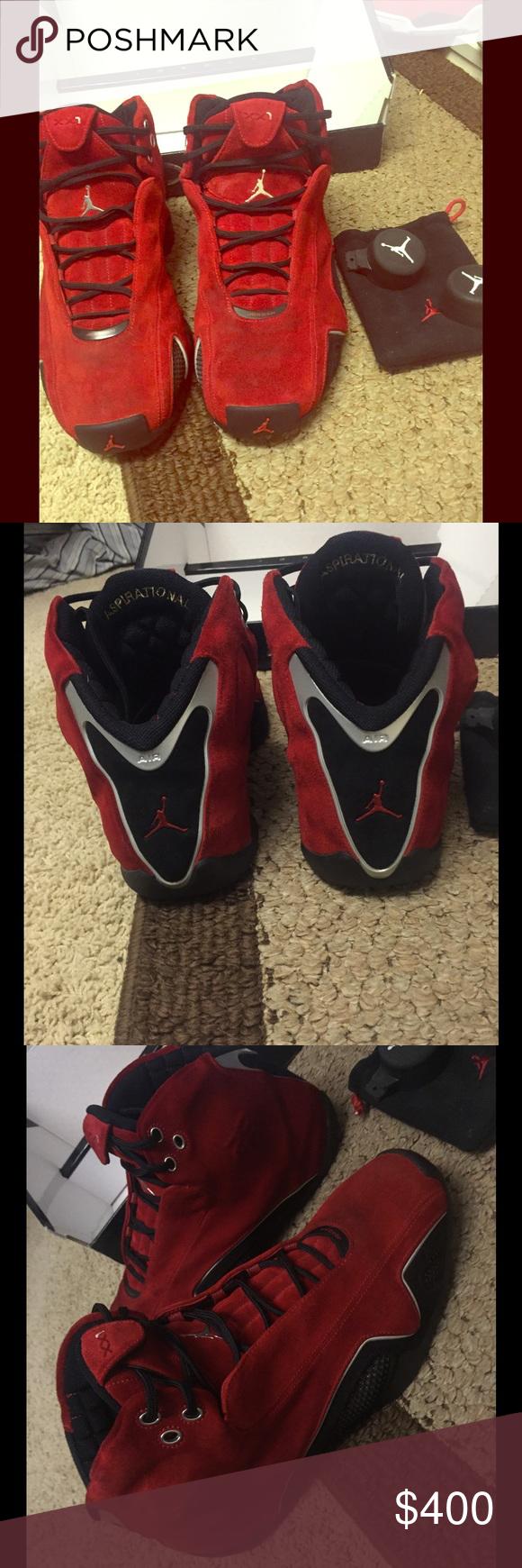 Men's Jordan 21s Red Suede Size 11