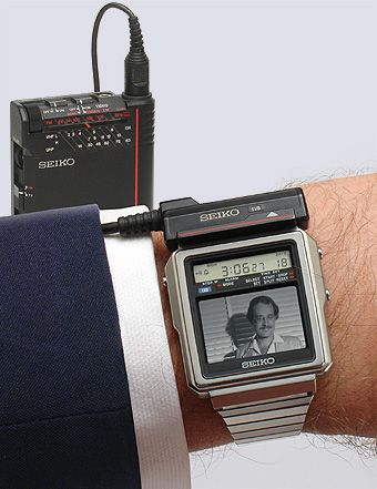 Collectible Seiko TVWatch TR0201 from 1982 television