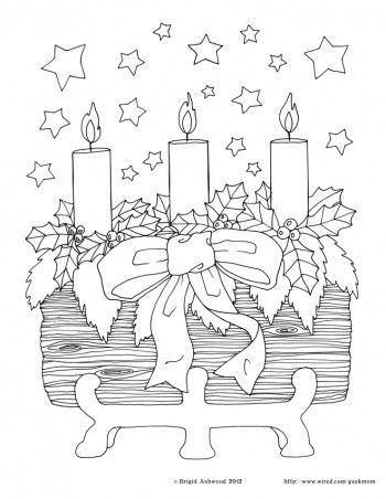 Holiday Printable Fun The Yule Log Coloring Pages Coloring