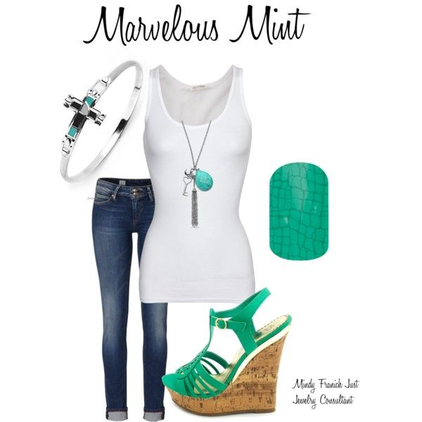 """Marvelous Mint"" by mindyf12 on Polyvore"