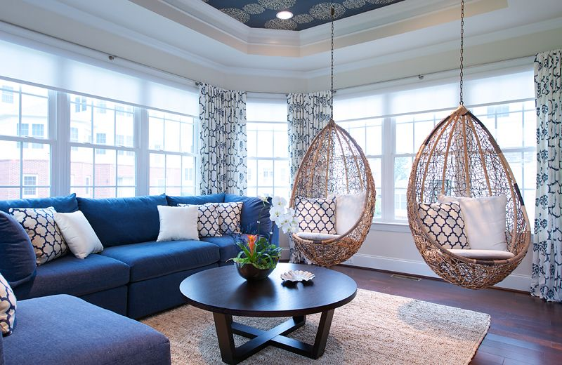 20 Fascinating Swing Chairs In The Living Room Home Design Lover Living Room Swing Chair Classy Living Room Room Swing