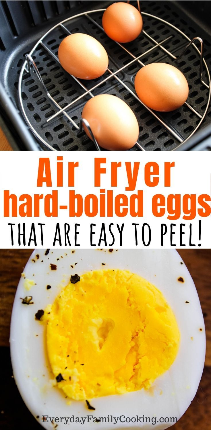 Air Fryer HardBoiled Eggs Recipe in 2020 Hard boiled