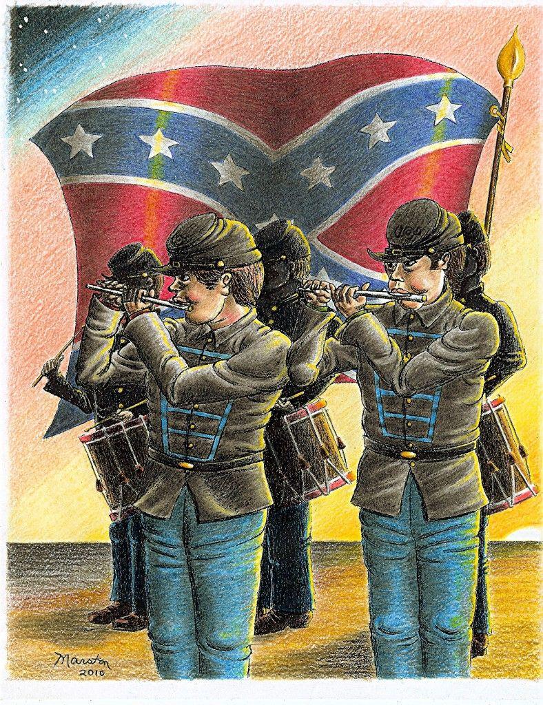 Confederate Morning Fife and Drum | Civil War Drawings | Pinterest ...