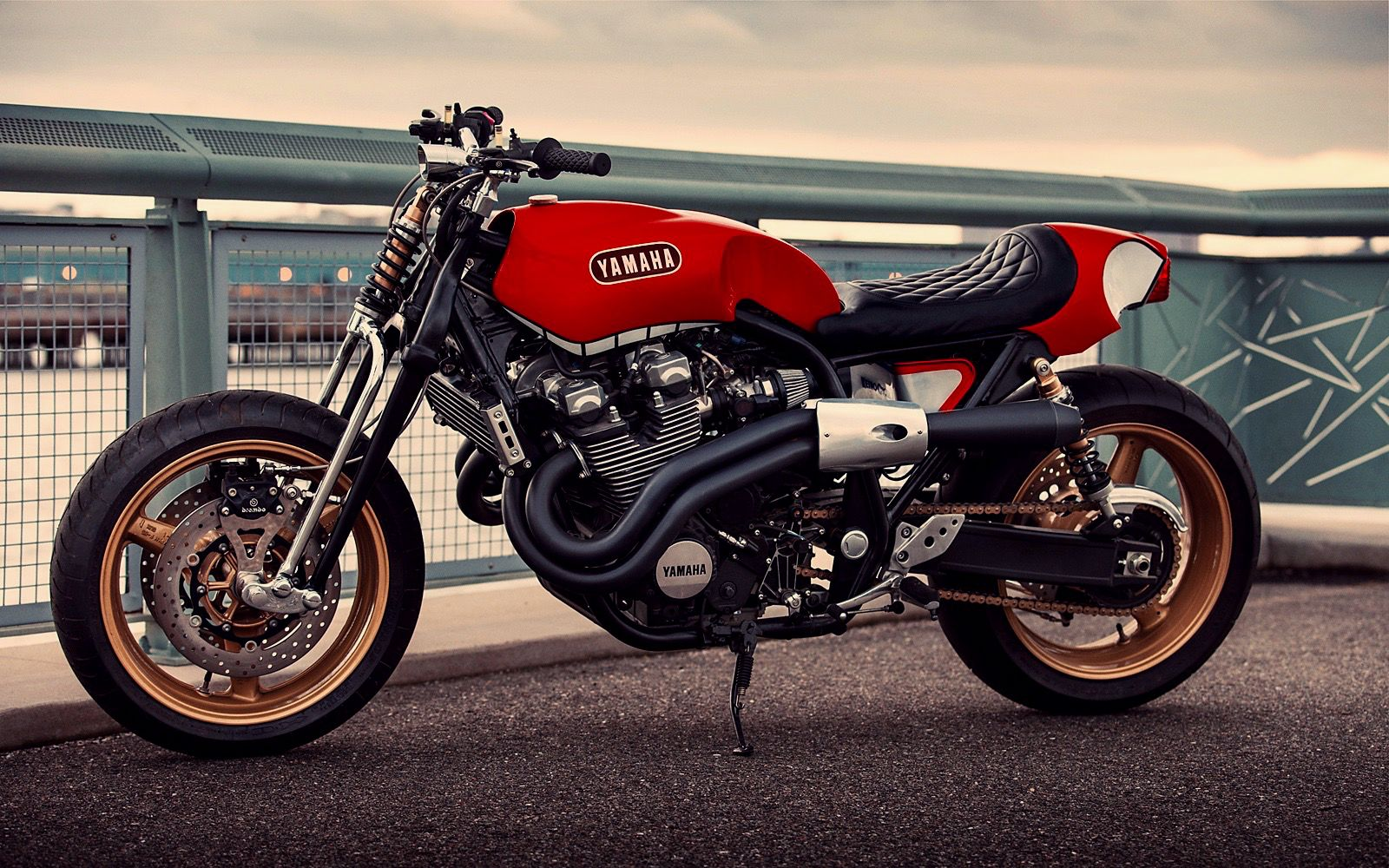 Rhapsody In Red Inazuma Cafe Racer Scrambler Motorcycle Yamaha Cafe Racer