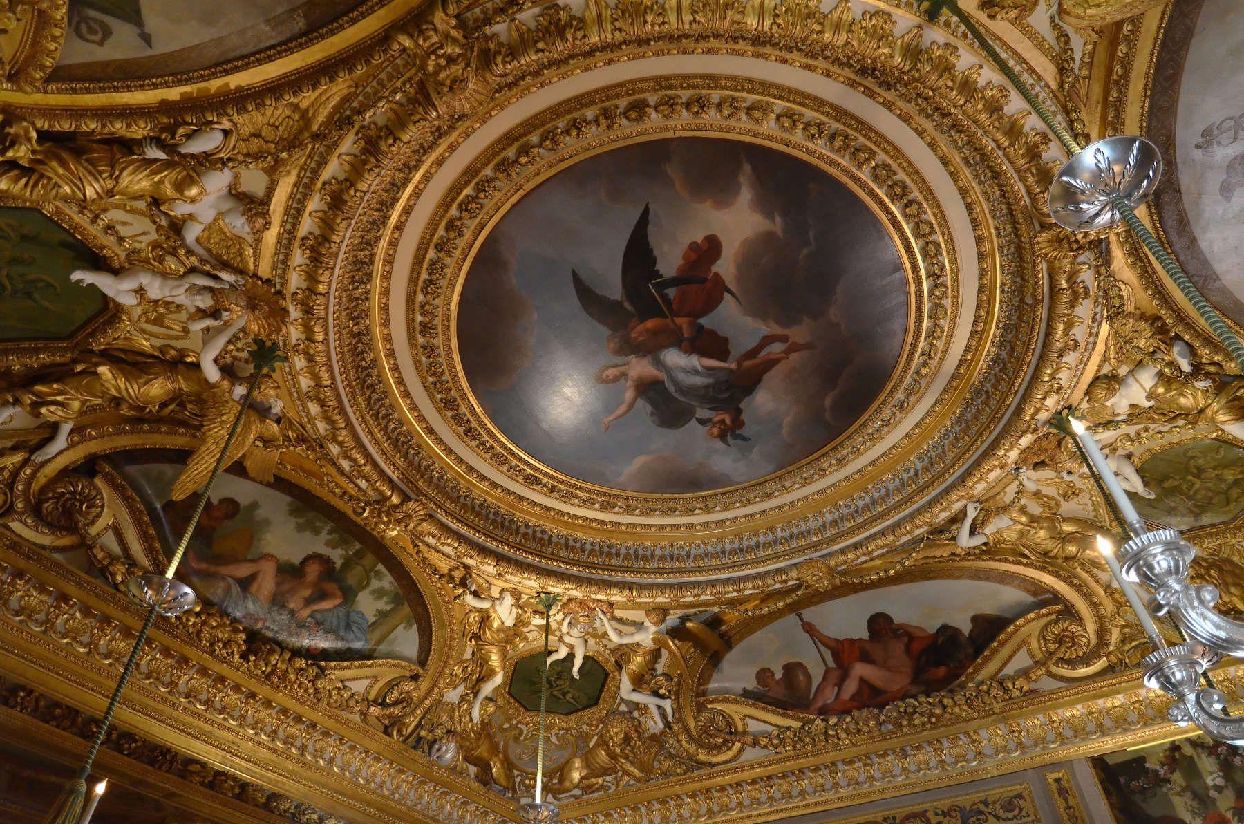 Plafond - Chambre du Roi - Château de Vaux-le-Vicomte - France ...