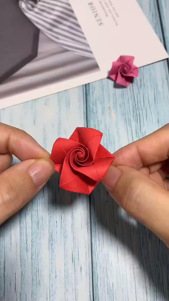Rose Origami Video Paper Crafts Origami Paper Crafts Diy Kids Diy Crafts For Gifts