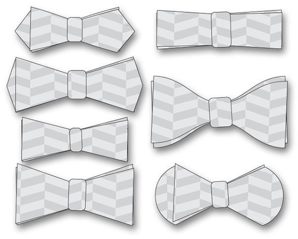 LaserCut Acrylic Templates For Making BowTies V  Detail And