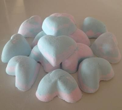 12 x 6 Pack of Ylang Ylang and Patchouli Scented Mini Heart Bath Bombs £12