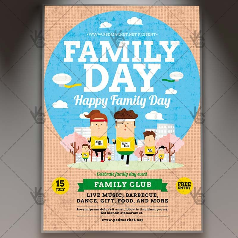 Family Day   Premium Flyer PSD Template #camping #fair #family   Fun Poster  Fun Poster Templates