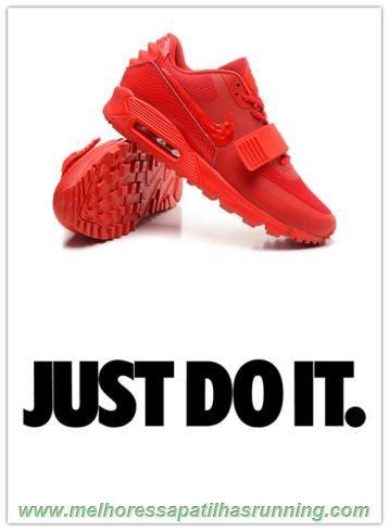 6e7e7d90e sapatilhas de running 508214-600 Nike Air Max 90 Yeezy 2 design by Blkvis  All Vermelho Masculino-Mulheres