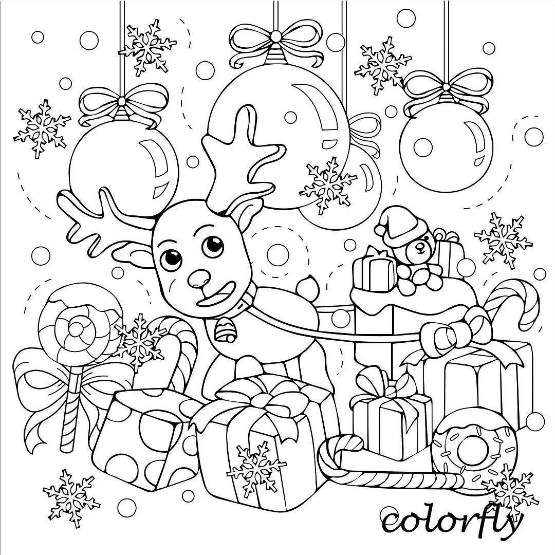 Colorfly Freebie Enjoy The Christmas Vacation With Our Special Designs You Now Can Download Cool Coloring Pages Christmas Coloring Pages Colorful Pictures