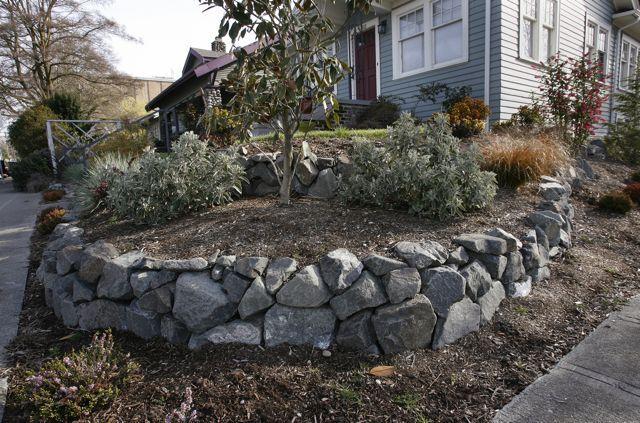 White River Basalt Front House Landscaping Landscaping Around Patio Landscaping Retaining Walls
