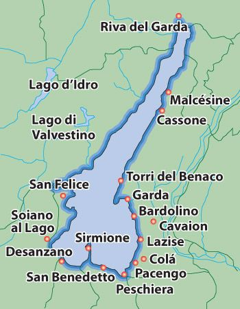 lake garda on map Malcesine Italy Lake Garda Benamati Family Origin Lake lake garda on map