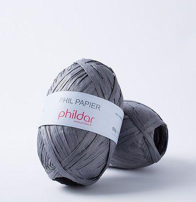 Phil Papier Phildar 50 G Bast Taschen Hüte Hut Korb Tischsets