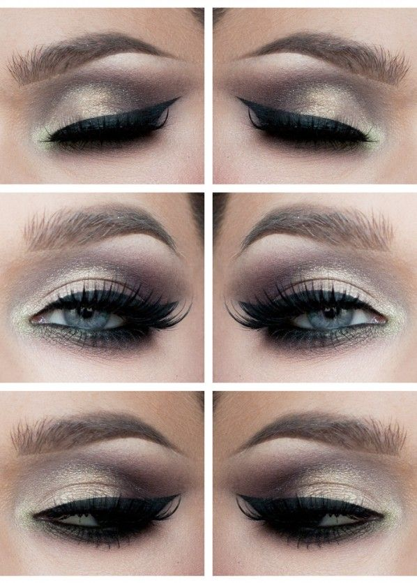 Eye Makeup Smokey Gold Eyes With Images Eye Makeup Hair