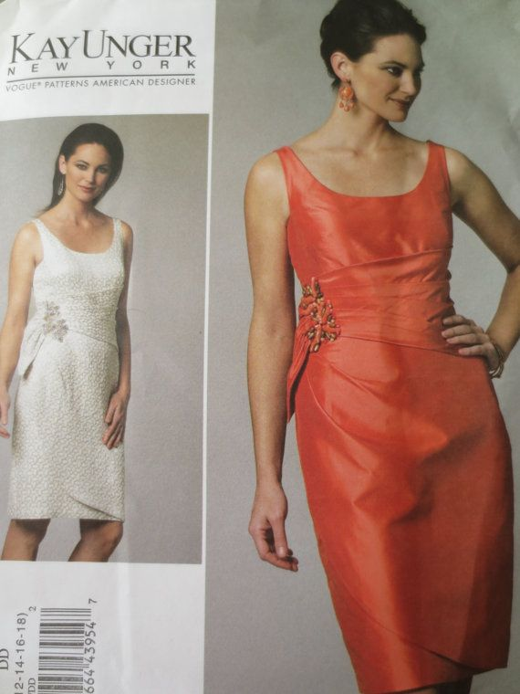 Vogue 1242 V1242 Sewing Pattern Kay Unger Cocktail Dress
