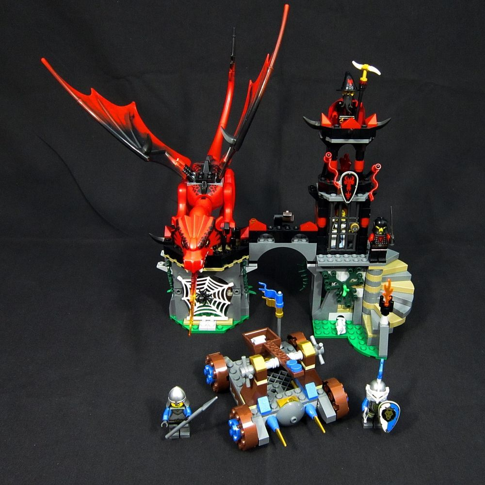 Lego Castle Dragon Mountain 70403 Retired All Minifigs No Box Or