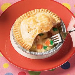 chicken pot pie {pie crust filled with candy}