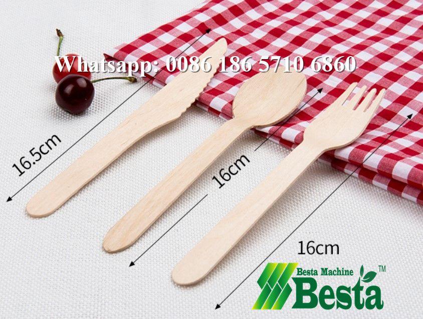 wood cutlery machine wooden spoon, fork, knife making