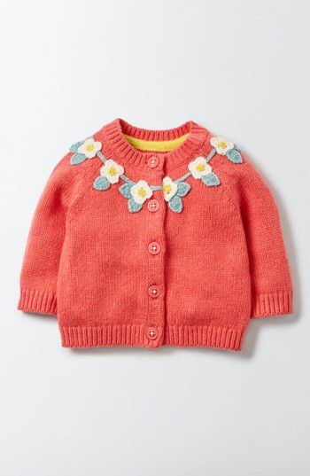 Infant Girl's Mini Boden Crochet Cardigan