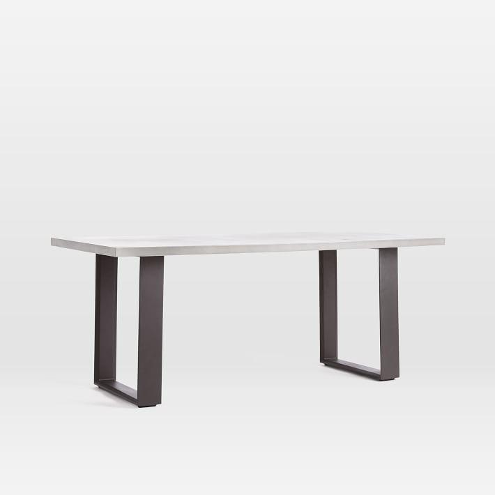 Concrete Outdoor Dining Table Aluminum In 2020 Concrete