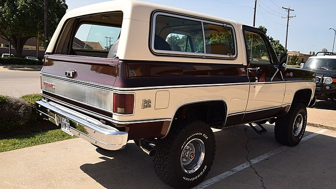 1979 Gmc Jimmy High Sierra 400 Ci 4 Inch Lift Presented As Lot W59 At Dallas Tx 2015 Image2 Gmc Mecum Auction Trucks And Girls