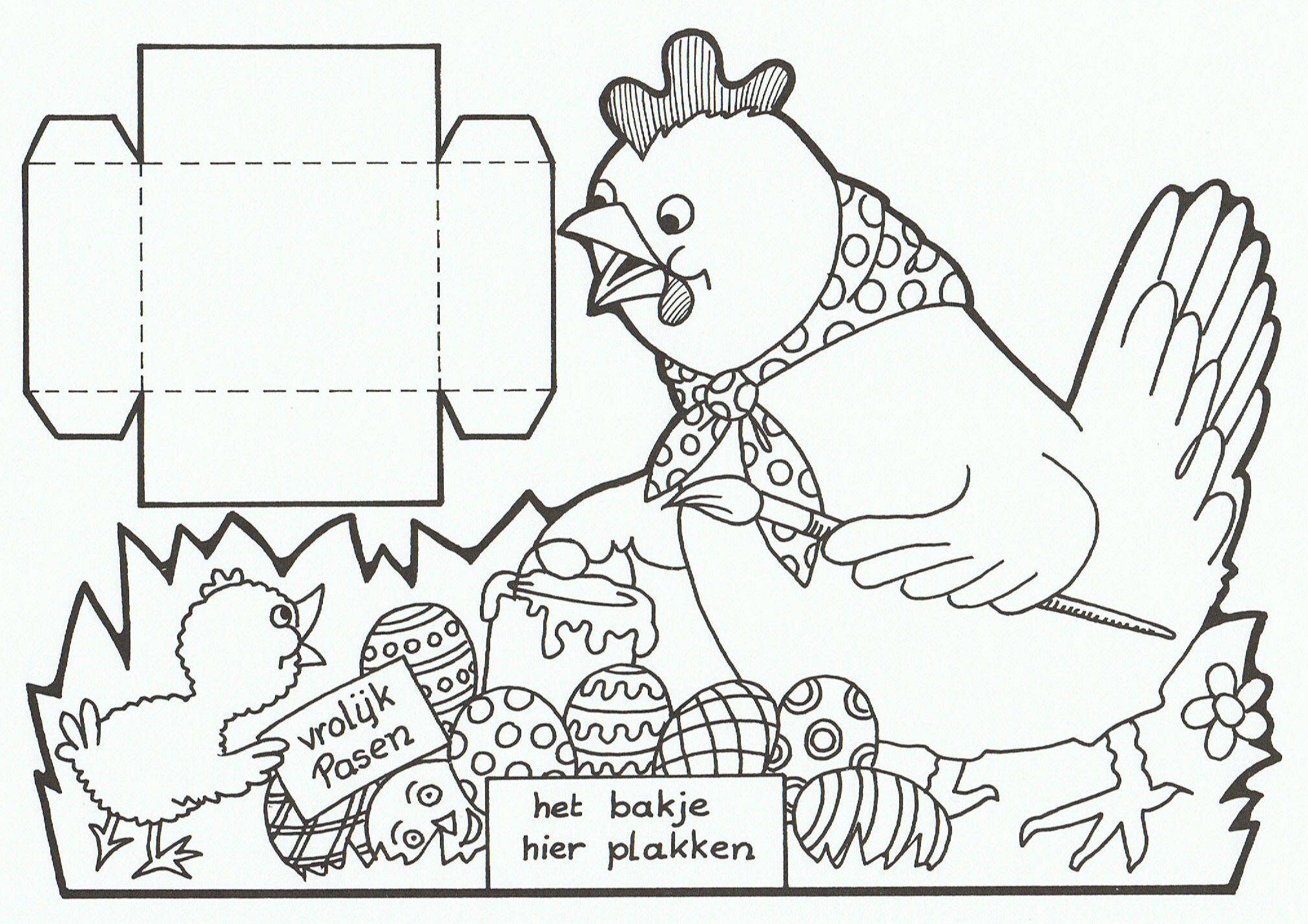 Pin Van Katrien Van Britsom Op My Coloring Pages Knutselen Pasen Pasen Knutselideeen