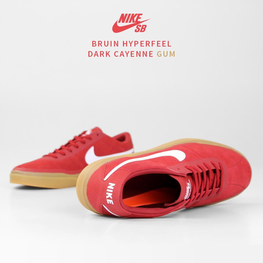 Nike SB Bruin Hyperfeel: Cayenne/Gum