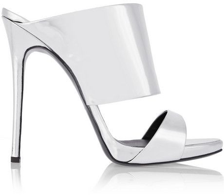 fa9b5c18b04f Giuseppe Zanotti Coline mirrored-leather mules on shopstyle.com ...