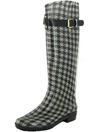 7a96ca03bf0 LAUREN RALPH LAUREN Womens Rossalyn II Rain Boot (Blk ...