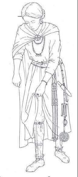 A reconstruction of seventh-century Alemannic female