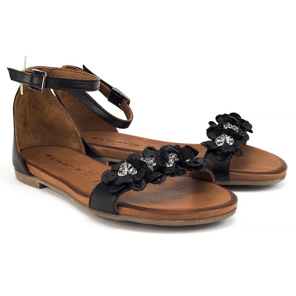 Sandaly Tamaris 1 28136 38 001 Black Sandaly Na Plaskim Obcasie Sandaly Buty Damskie Filippo Pl Shoes Sandals Tamaris