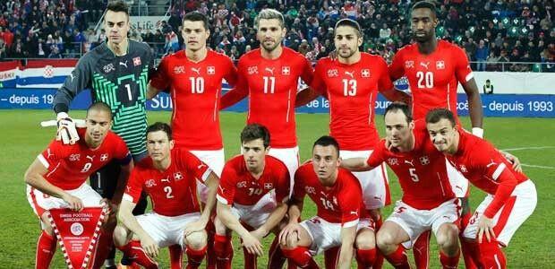 Selección de suiza en mundial de Brasil 2014.