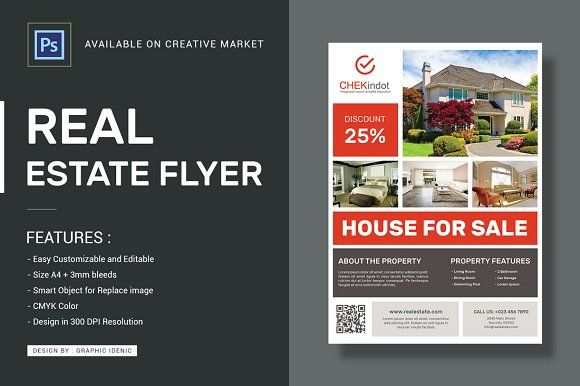 1609 best Flyer \ Brochure Designs - PSD \ AI images on Pinterest - house for sale flyer template