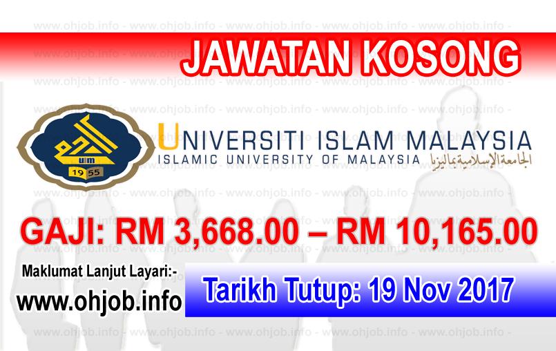 Jawatan Kosong UIM Universiti Islam Malaysia (19