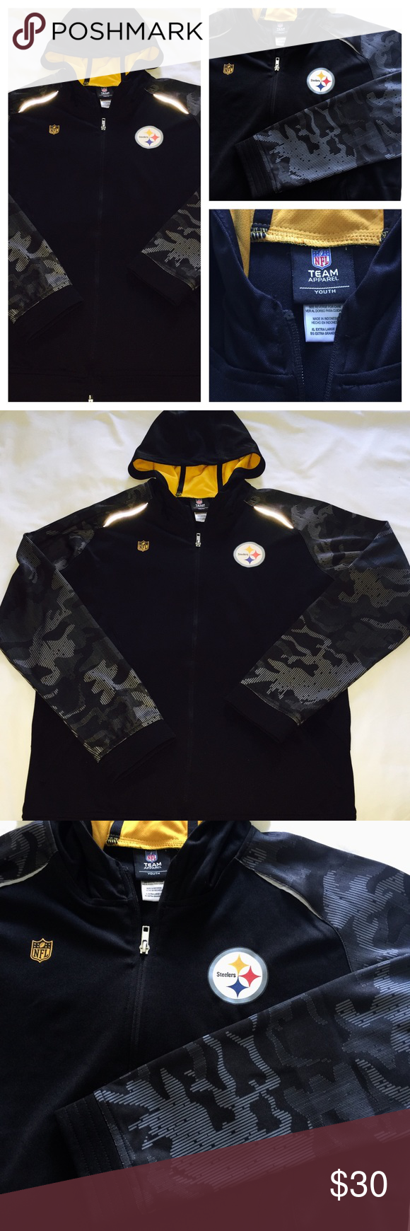 huge selection of 2c87b afb2d NFL Pittsburgh Steelers jacket XL youth 18 boys NFL Team ...