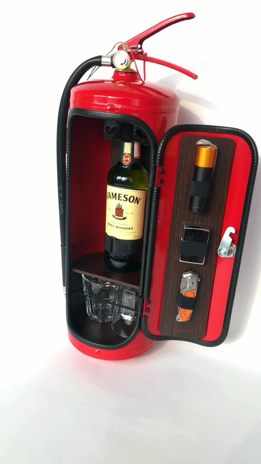 Fire Extinguisher Mini Bar Fireman Gift Firefighter Gift Etsy Video Video In 2020 Garage Gift Firemen Gifts Liquor Gifts