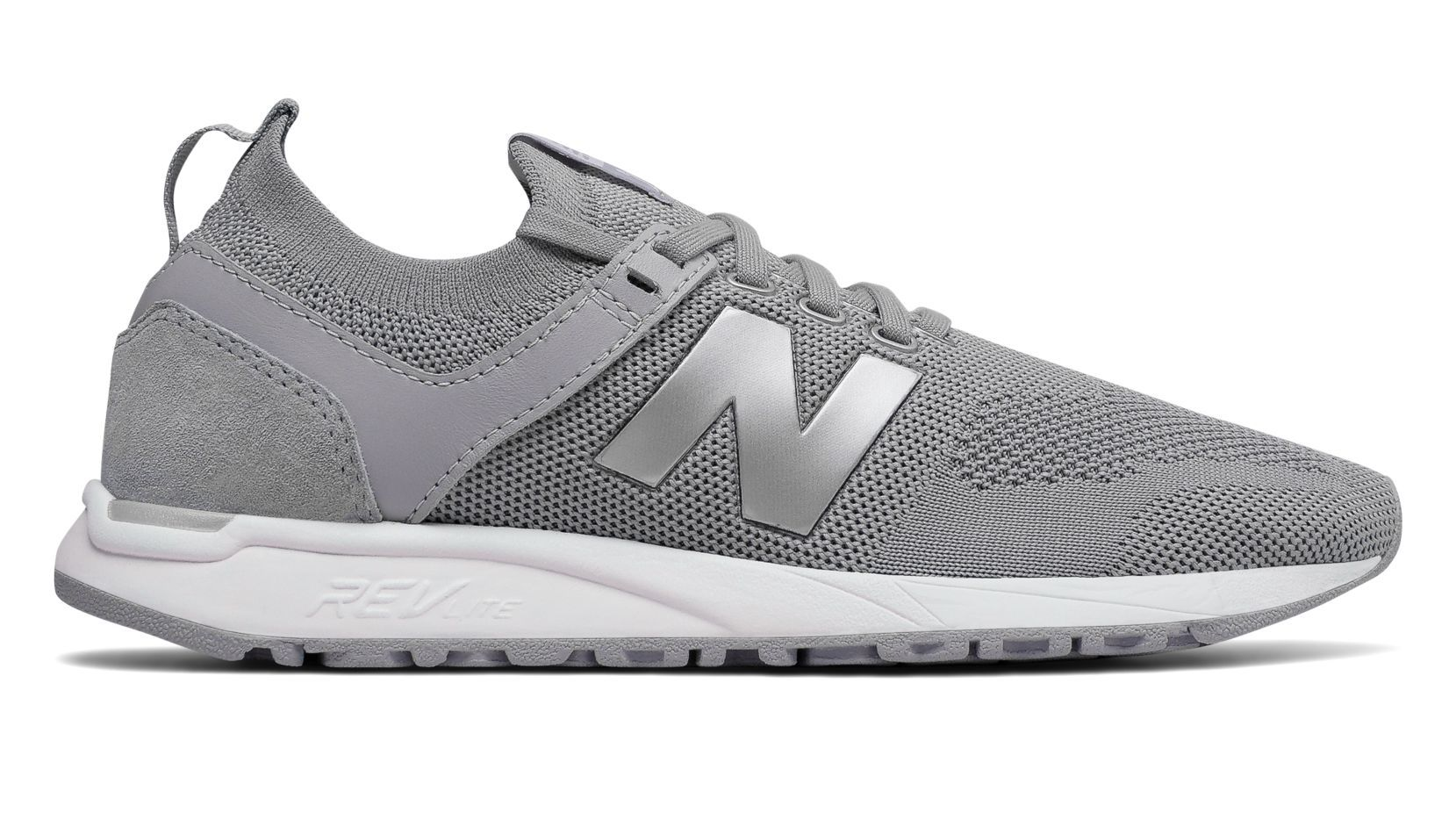 New Balance 247 Engineered Mesh, Silver Mink with Silver   Womens ...