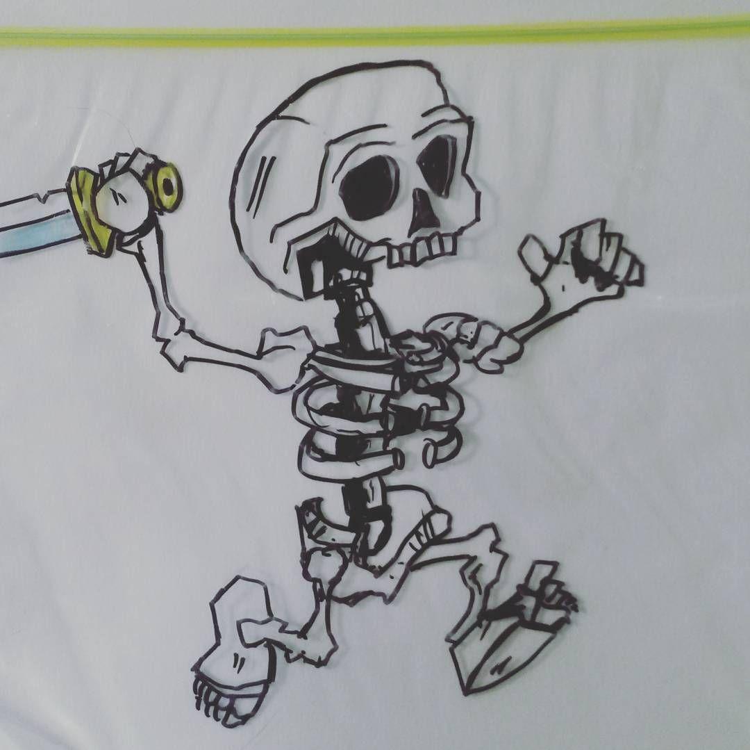 Sandwich Bag Art 53 177 A Skeleton Graces Todays Clash Royale Themed Sandwich Bag Art Creative Clashroyale Supercell Skeleton