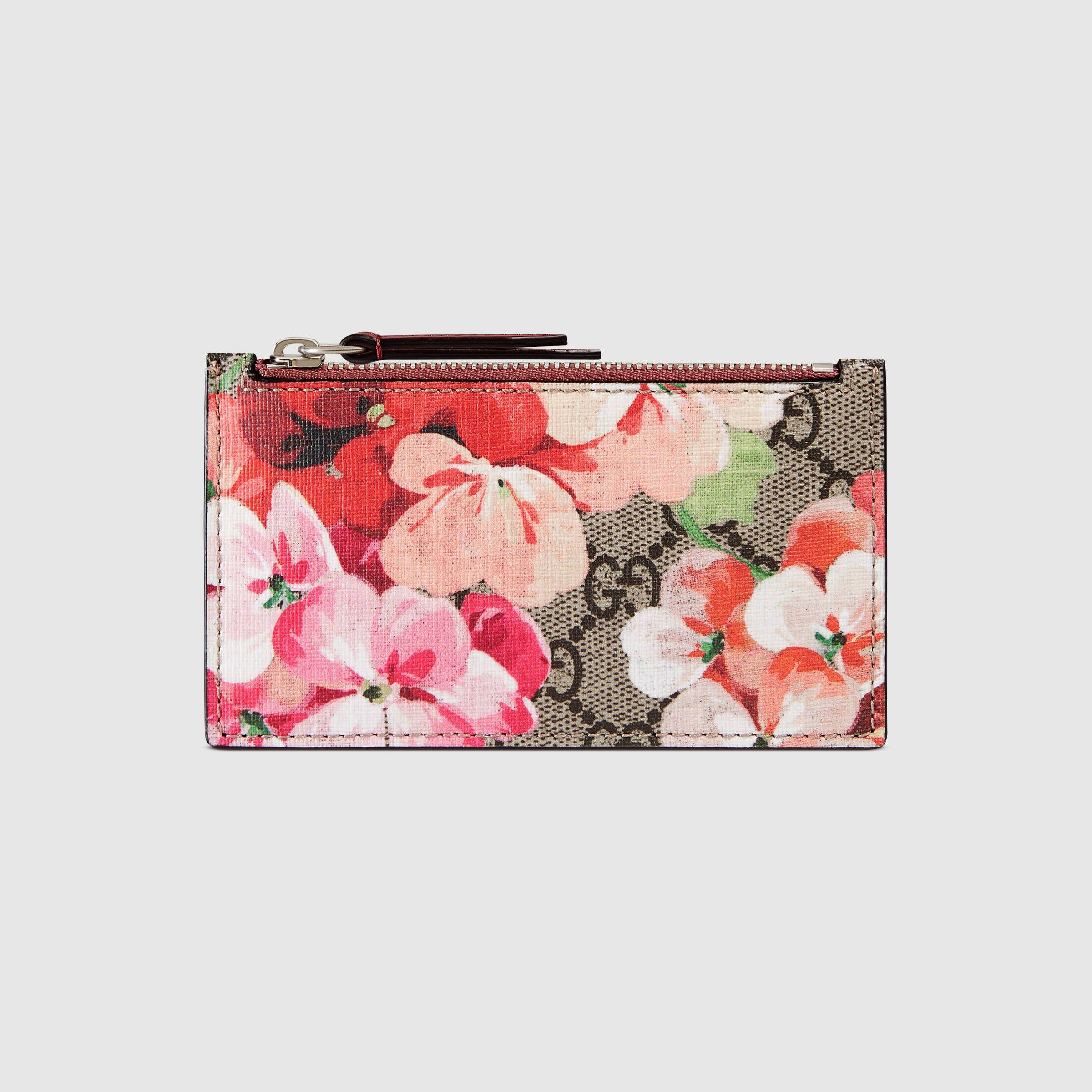 Genuine gucci card case pink blooms bloom fashion pink