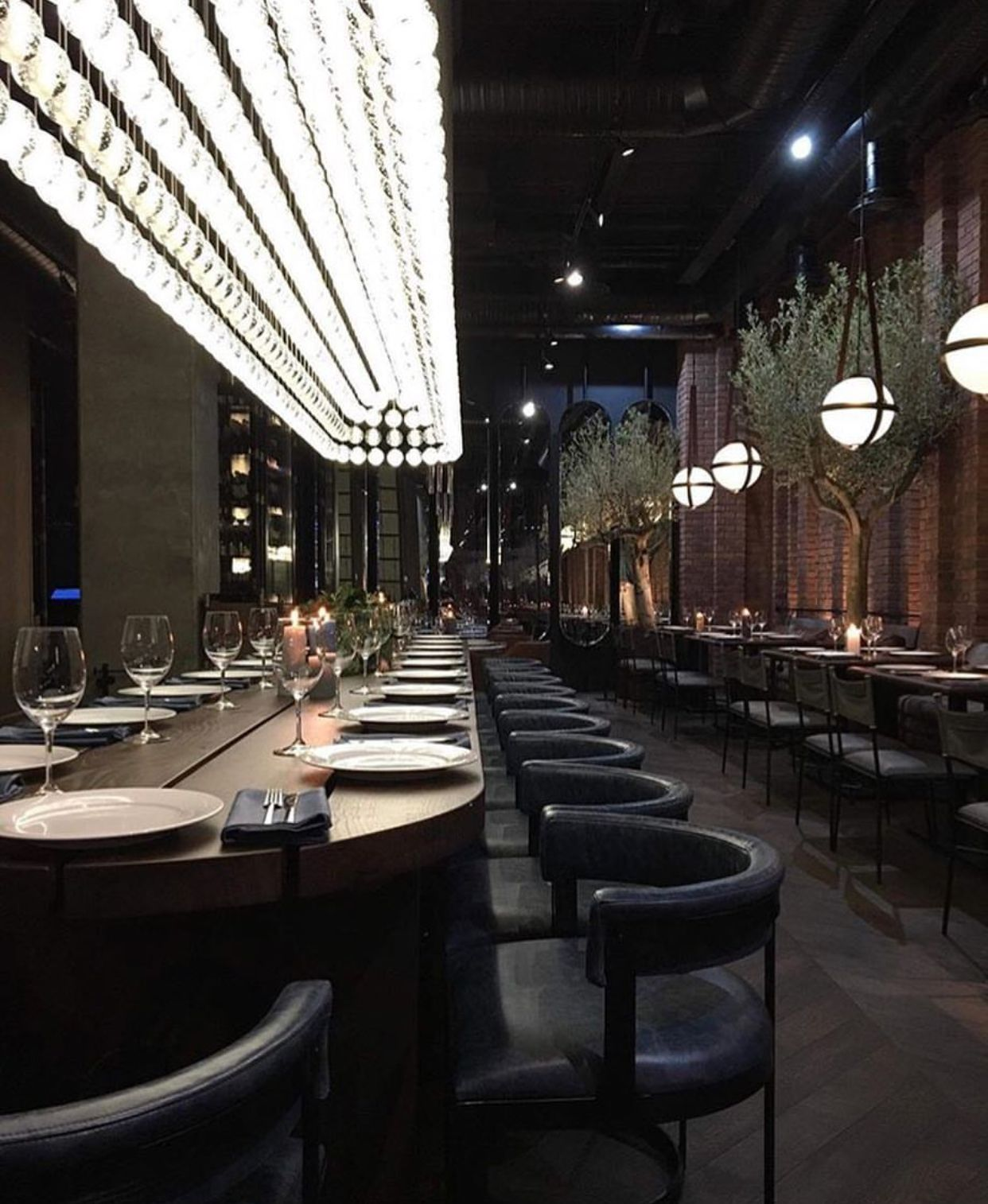 Cluster Lighting Above Bar Japanese Restaurant Design Cafe
