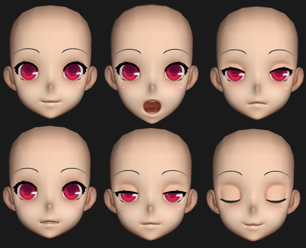 M3wip Png 600 486 Anime Head 3d Model Character Character Modeling
