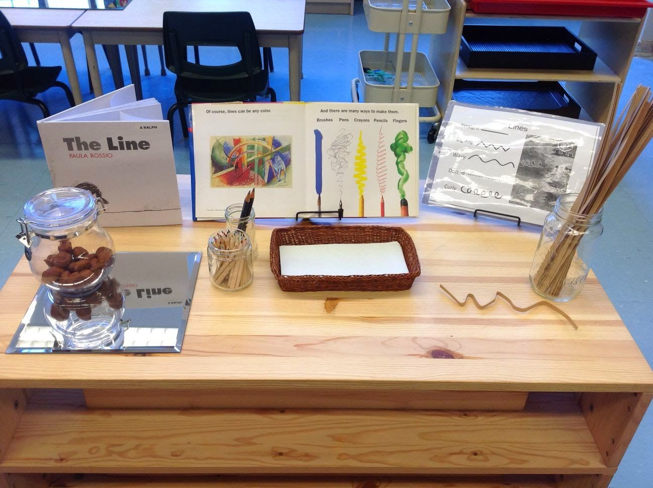 Wonders In Kindergarten From Lines To Letters E Co Construction Of Our Alphabet Wall