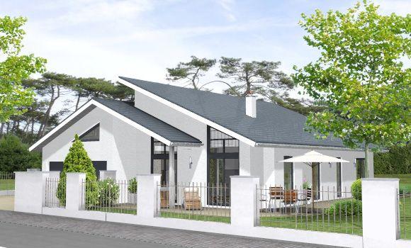 Massivhaus bungalow bungalow 162 architektur pinterest for Bungalow haus modern