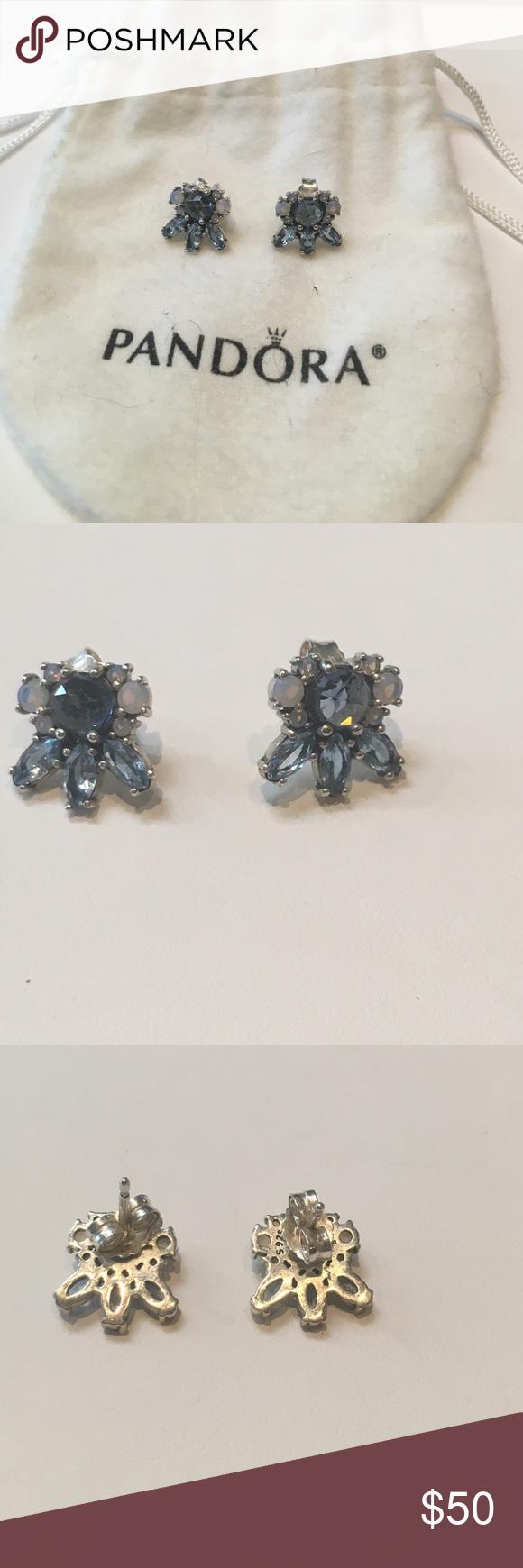 7ddba2de4 ... good pandora sterling patterns of frost earrings pandora sterling  silver blue topaz and moonstone patterns of